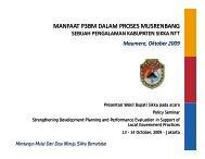 MANFAAT P3BM DALAM PROSES MUSRENBANG - UNDP