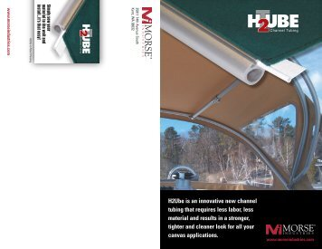 H2Ube is an innovative new channel tubing that ... - Morse Industries