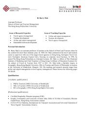 Download CV - School of Hotel & Tourism Management - The Hong ...