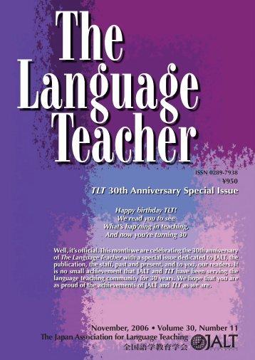 The Language Teacher - JALT Publications