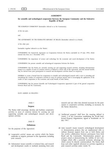 AGREEMENT for scientific and technological ... - Access4.eu