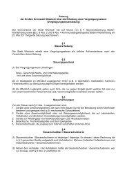 Vergnügungssteuersatzung - Stadt Wiesloch