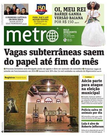 Vagas subterrâneas saem do papel até fim do mês - Metro