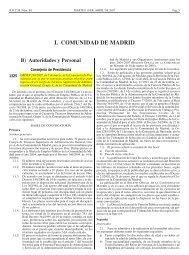 I. COMUNIDAD DE MADRID - Colegio Oficial de Psicólogos de Madrid