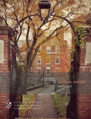 2010-2011 Radcliffe Institute for Advanced Study Annual Report