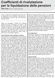 Coefficienti di rivalutazione per la liquidazione delle ... - UILA Potenza