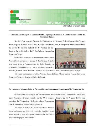 Boletim Informativo - Abril/2009 - Instituto Federal Farroupilha