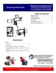 Discharge Relief Valve Operation & Maintenance
