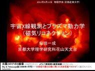 宇宙X線観測とプラズマ動力学 - 東京大学宇宙線研究所