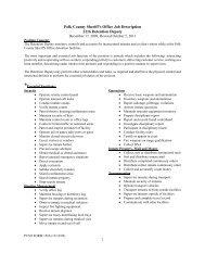 1 Polk County Sheriff's Office Job Description 2216 Detention Deputy
