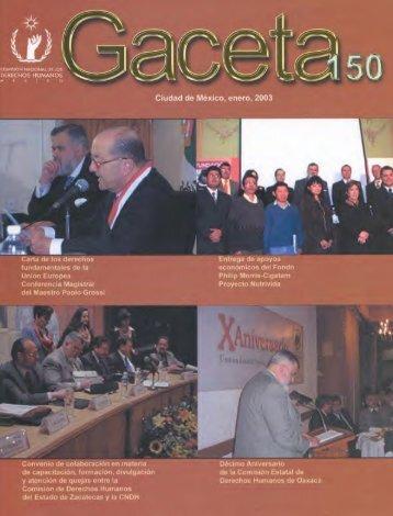 Gaceta N° 150 - Comisión Nacional de los Derechos Humanos