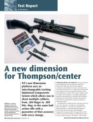 Dimension Sporting Shooter December 2012 - Frontier Arms