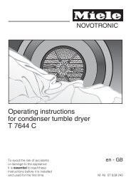Operating instructions for condenser tumble dryer T 7644 C