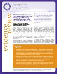 Effectiveness of Outreach and Care Coordination ... - NCCID