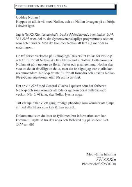Nollans handbok - SAKS
