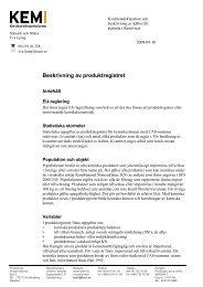 Beskrivning av produktregistret - Kemikalieinspektionen