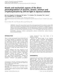 Kinetic and mechanistic aspects of the direct photodegradation of ...