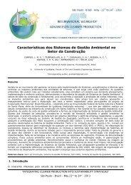Características dos Sistemas de Gestão Ambiental no Setor da ...