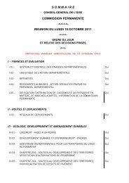 CP du 10 octobre 2011 - Conseil général de l'Oise