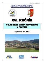 XVI. ROČNÍK - Český svaz plaveckých sportů