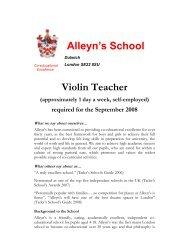 Alleyn's School Violin Teacher