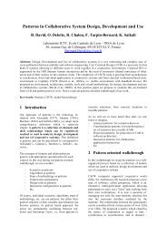 Patterns in Collaborative System Design, Development and Use