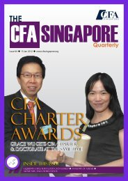 Quarterly - local CFA Societies