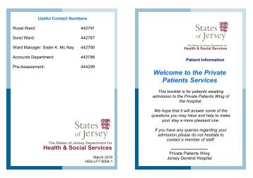 Private Patients Leaflet - States of Jersey