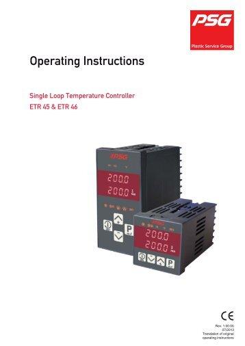 Operating Instructions - Psg-online.de