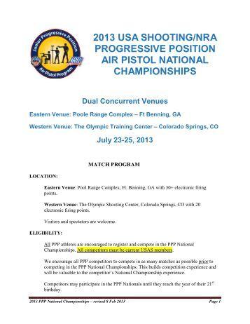 2013 PPP National Championships Program - USA Shooting