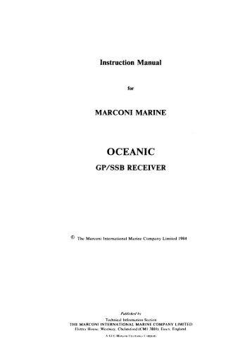 Instruction Manual for Oceanic GP/SSB Receiver ... - VMARSmanuals