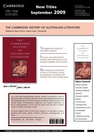 New Titles September 2009 - Cambridge University Press