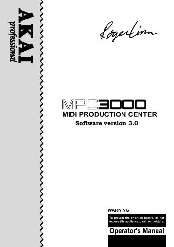 Akai MPC-3000 v3.0 Owners Manual.pdf - Fdiskc