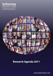 Research Agenda 2011 - Informa Telecoms & Media
