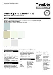 weber.fug 870 (Cerinol® F 6) - Saint-Gobain Weber GmbH