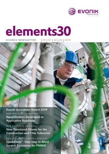 elements 30 - Evonik Industries