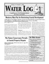 Water Log 19.2 - Mississippi-Alabama Sea Grant Legal Program