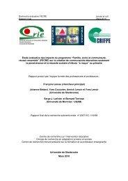 """""""Famille, école et communauté, réussir ensemble"""" (FECRE) - Fonds ..."""