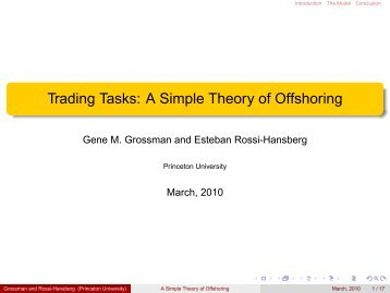 Trading Tasks: A Simple Theory of Offshoring
