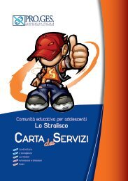 Carta dei servizi: Comunità educativa per adolescenti - Pro.Ges.