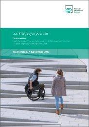 Programm 22. Pflegesymposium - Schweizer Paraplegiker-Gruppe