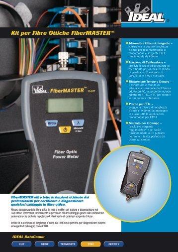 Kit per Fibre Ottiche FiberMASTER™