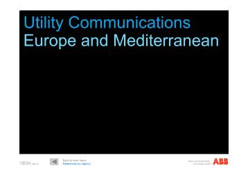 Utility Communications Europe and Mediterranean - ABB - ABB Group