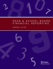 PSAB & School Board Financial Reporting