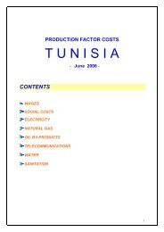 Factor costs brochure - Invest in Tunisia, The Foreign Investment ...