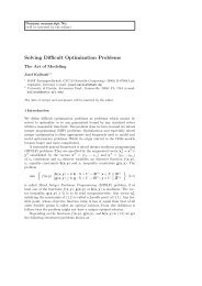 Modeling Difficult Optimization Problems - Astronomy - University of ...