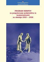 Program ukrepov za pospeševanje konkurenčnosti za obdobje 2002 ...