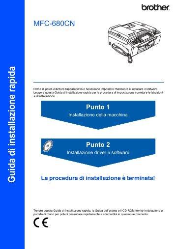 Installazione driver e software - Brother