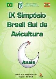 IX SIMPÓSIO BRASIL SUL DE AVICULTURA - Embrapa Suínos e ...