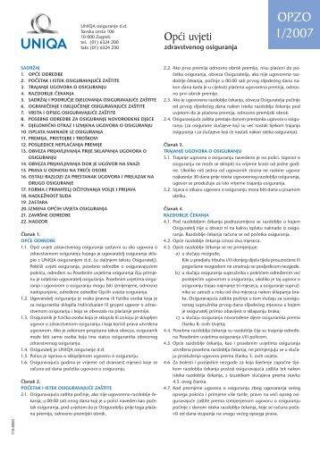 2006_12_21 Opci uvjeti zdravstvenog osiguranja.qxd - Kelta